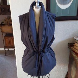James Perse Dark Gray Puffer Vest